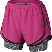 Nike Women's 2-in-1 Tempo Printed Compression Running Shorts