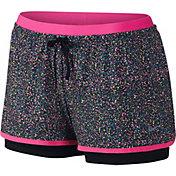Nike Women's Full Flex 2-in-1 Splatter Spot Printed Shorts