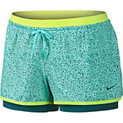 Nike Women's Full Flex 2-in-1 Splatter Spot Printed Shorts