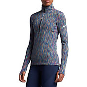Nike Women's Pro Hyperwarm Half Zip Long Sleeve Shirt