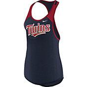 Nike Women's Minnesota Twins Dri-FIT Navy Wordmark Tank Top