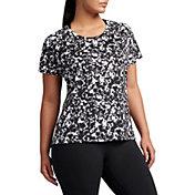 Nike Women's Plus Size Dry Miler Gravity Printed Running T-Shirt