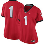 Nike Women's Georgia Bulldogs #1 Red Game Football Jersey