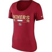 Nike Women's San Francisco 49ers Team Scoop Red T-Shirt