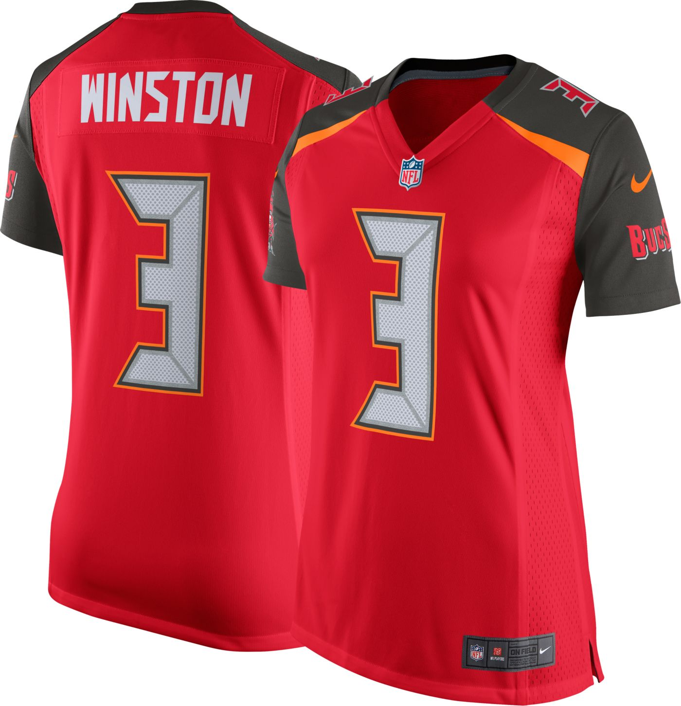 Nike Women's Home Game Jersey Tampa Bay Buccaneers Jameis Winston #3