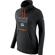 Nike Women's Cincinnati Bengals Black Funnel Neck Pullover