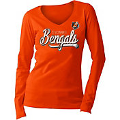 New Era Women's Cincinnati Bengals Long Sleeve Orange Shirt