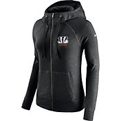 Nike Women's Cincinnati Bengals Gym Vintage Full-Zip Black Hoodie