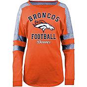 New Era Women's Denver Broncos Boyfriend Orange Long Sleeve Shirt