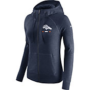 Nike Women's Denver Broncos Gym Vintage Full-Zip Navy Hoodie