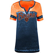 New Era Women's Chicago Bears Burnout Navy T-Shirt