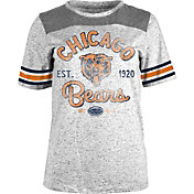 NFL Team Apparel Women's Chicago Bears Peppercorn Throwback Grey T-Shirt