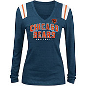 New Era Women's Chicago Bears Tri-Blend Navy Long Sleeve Shirt