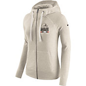 Nike Women's Cleveland Browns Gym Vintage Full-Zip Brown Hoodie