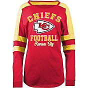 New Era Women's Kansas City Chiefs Boyfriend Red Long Sleeve Shirt