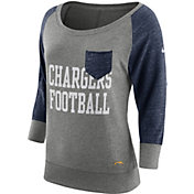Nike Women's Los Angeles Chargers Tailgate Vintage Crew Grey Long Sleeve Shirt