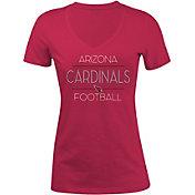 New Era Women's Arizona Cardinals Rhinestone Red T-Shirt