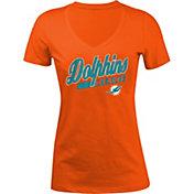 New Era Women's Miami Dolphins Glitter Orange T-Shirt
