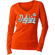 New Era Women's Miami Dolphins Long Sleeve Orange Shirt