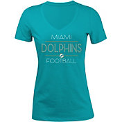 New Era Women's Miami Dolphins Rhinestone Aqua T-Shirt