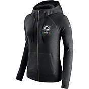 Nike Women's Miami Dolphins Gym Vintage Full-Zip Black Hoodie