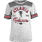 NFL Team Apparel Women's Atlanta Falcons Peppercorn Throwback Grey T-Shirt