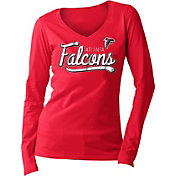 New Era Women's Atlanta Falcons Long Sleeve Red Shirt