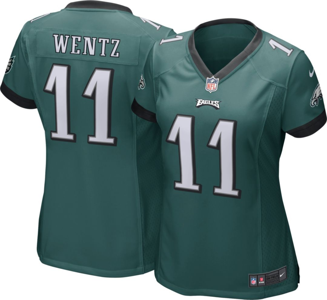 new product 66733 01e3f Nike Women's Home Game Jersey Philadelphia Eagles Carson Wentz #11