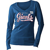 New Era Women's New York Giants Long Sleeve Blue Shirt