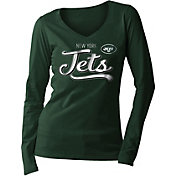 New Era Women's New York Jets Long Sleeve Green Shirt