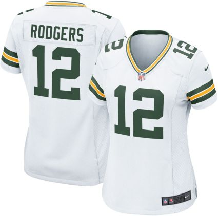 Nike Women s Away Game Jersey Green Bay Packers Aaron Rodgers  12 ... 303fcfd95