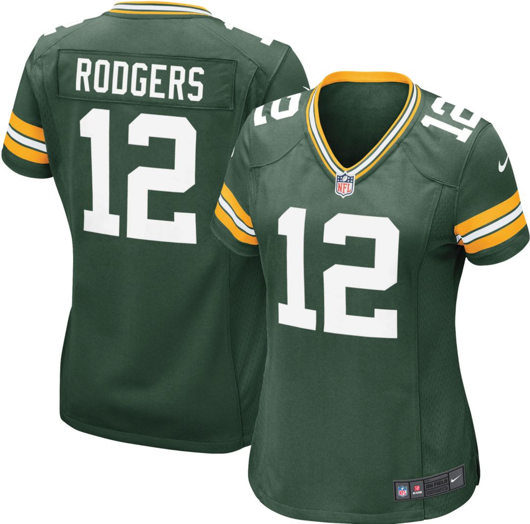 6db77c6429bb8 Nike Women's Home Game Jersey Green Bay Packers Aaron Rodgers #12 ...