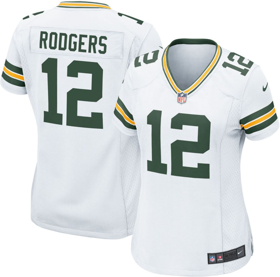 100% authentic e56d4 f78e2 Nike Women's Away Game Jersey Green Bay Packers Aaron Rodgers #12