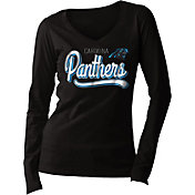 New Era Women's Carolina Panthers Long Sleeve Black Shirt