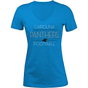 New Era Women's Carolina Panthers Rhinestone Blue T-Shirt