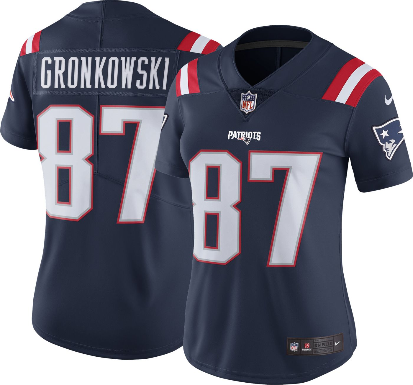 Nike Women's Color Rush Limited Jersey New England Patriots Rob Gronkowski #87
