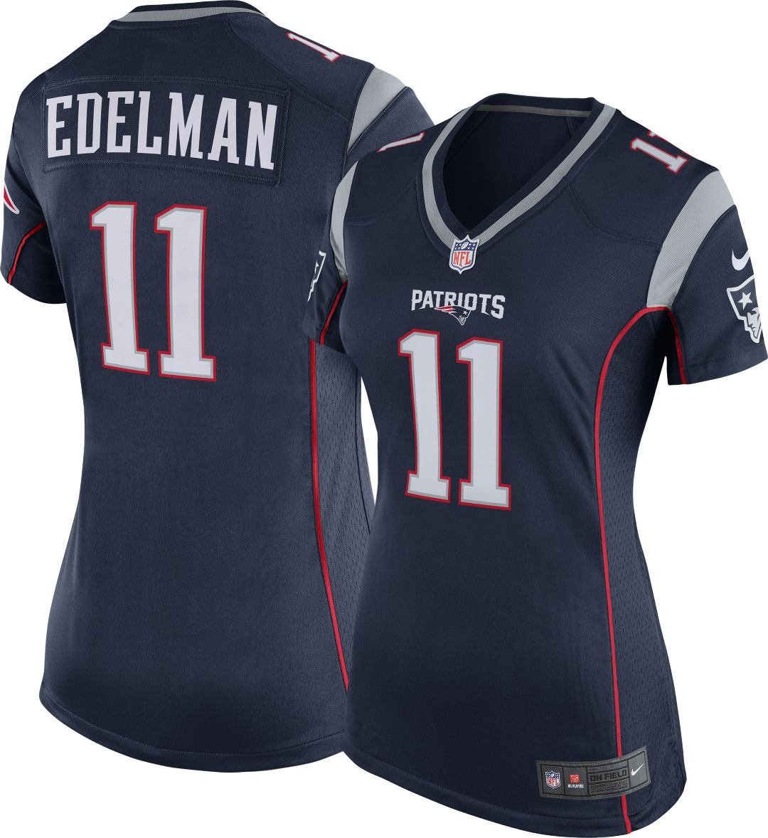 sale retailer 3779c 9f4f6 Nike Women's Home Game Jersey New England Patriots Julian Edelman #11