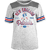 NFL Team Apparel Women's New England Patriots Peppercorn Throwback Grey T-Shirt