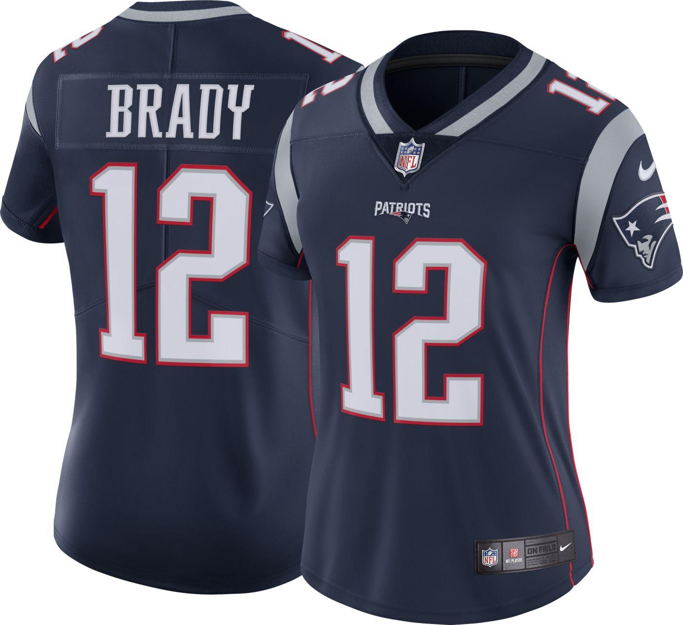 Nike Women's Home Limited Jersey New England Patriots Tom Brady #12