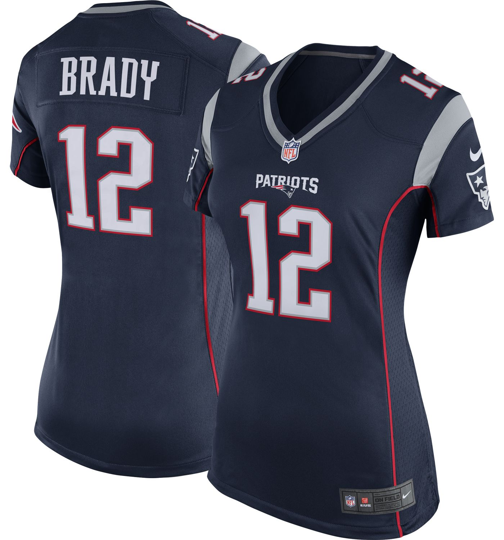 Nike Women's Home Game Jersey New England Patriots Tom Brady #12