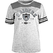 NFL Team Apparel Women's Oakland Raiders Peppercorn Throwback Grey T-Shirt