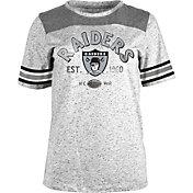 New Era Women's Oakland Raiders Peppercorn Throwback Grey T-Shirt