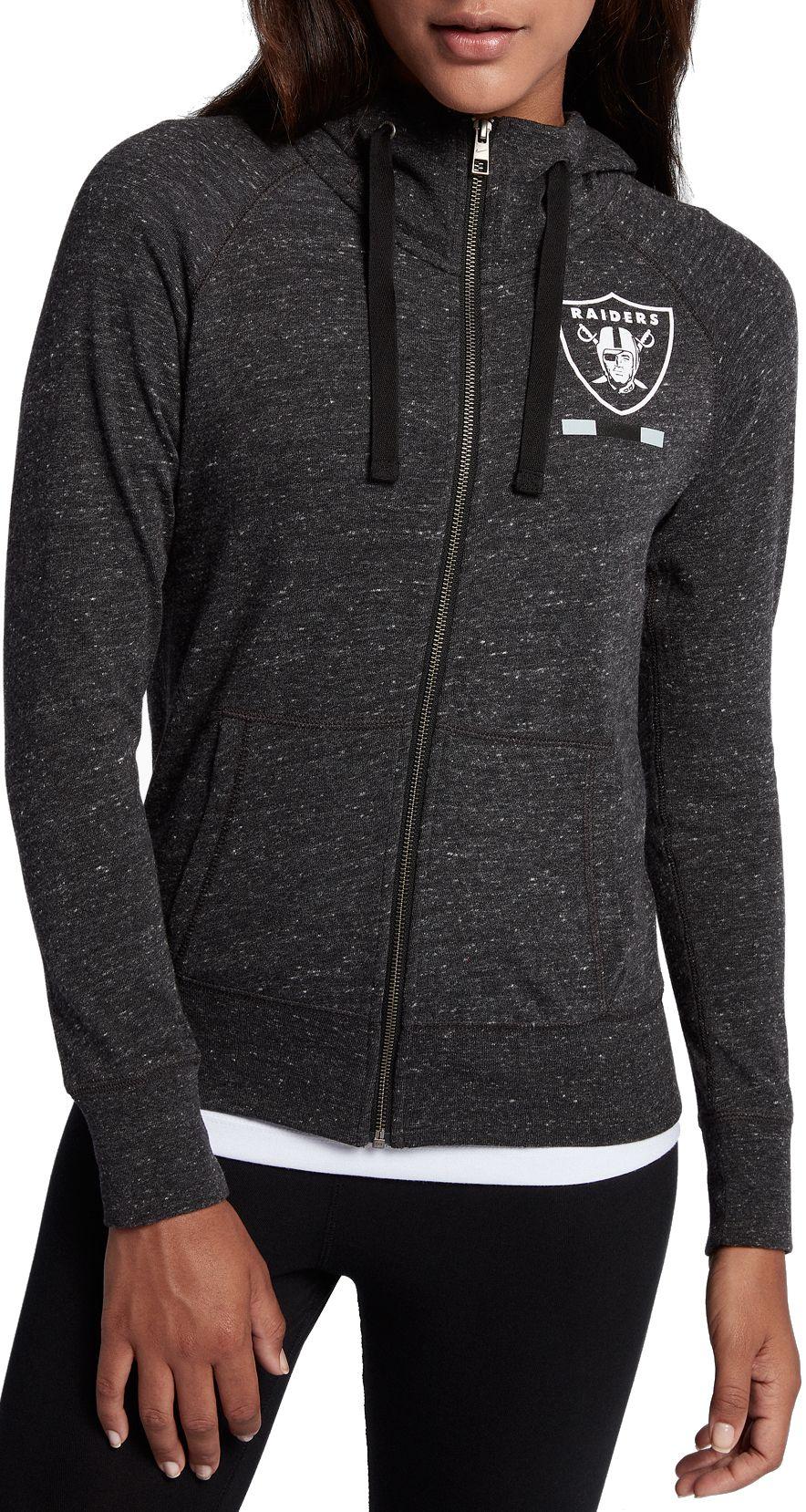 3dbc6613d9d0 Nike Women s Oakland Raiders Gym Vintage Full-Zip Black Hoodie ...