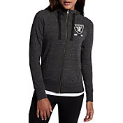 Nike Women's Oakland Raiders Gym Vintage Full-Zip Black Hoodie