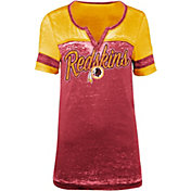 New Era Women's Washington Redskins Burnout Red T-Shirt