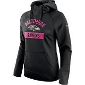 Nike Women's Baltimore Ravens Breast Cancer Awareness 2016 Circuit Black Hoodie