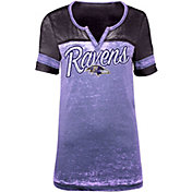 New Era Women's Baltimore Ravens Burnout Purple T-Shirt