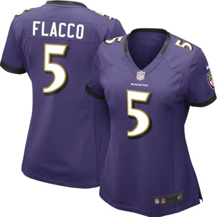 b66e69ab8 Nike Women's Home Game Jersey Baltimore Ravens Joe Flacco #5