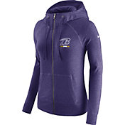 Nike Women's Baltimore Ravens Gym Vintage Full-Zip Purple Hoodie