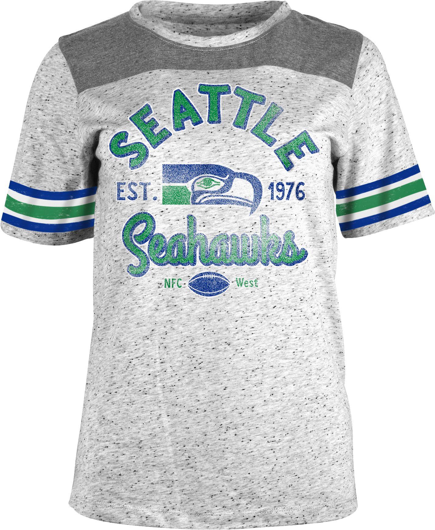 02f9a3d5c NFL Team Apparel Women s Seattle Seahawks Peppercorn Throwback Grey ...